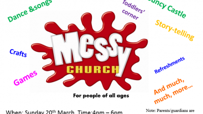 messy church flyer march 2016